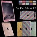 1 xBeauty Glitter Bling cristal decalques etiqueta pele cheia proteja caso para Apple iPad 5 ar 1 10 escolha da cor