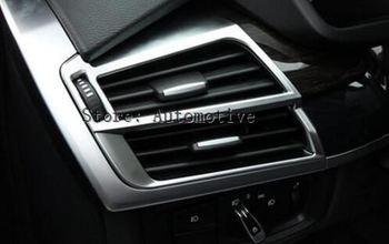 ABS Матовый хром выход кондиционера вентиляционные рамы для BMW X5 f15 X6 F16 2014 2015 Аксессуары для стайлинга автомобилей левым