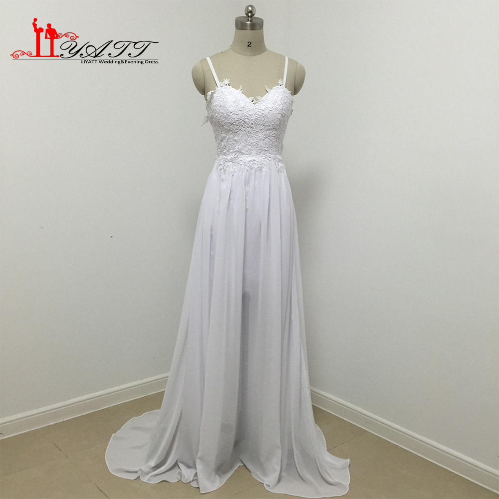 Bohemian long wedding dresses 2017 boho spaghetti for Backless bohemian wedding dress