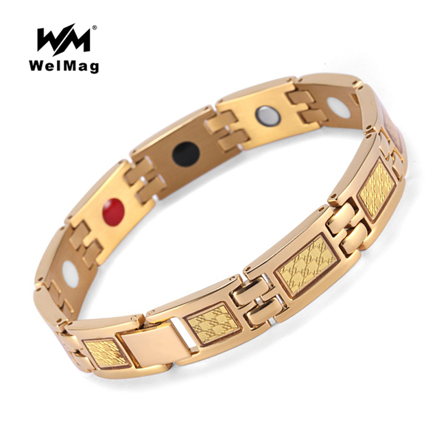 c66c6157e0e5c US $11.18 25% OFF|WelMag Magnetic Bracelet Top Quality Fashion Healing  Therapy Germanium Bracelet Arthritis Pain Relief Bio Energy Bangles  Jewelry-in ...