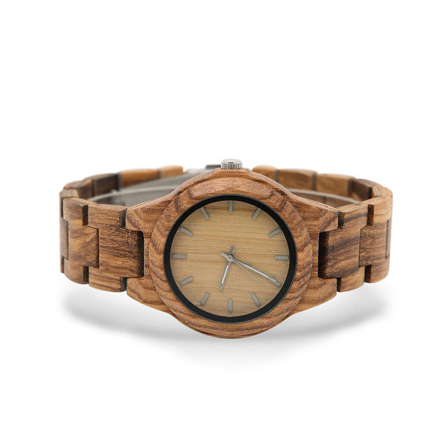 Wood Watch Women's Bracelet femme 2019 women watches Houten horloge Watch Styles art Luxury Famous Brand wood watch              2