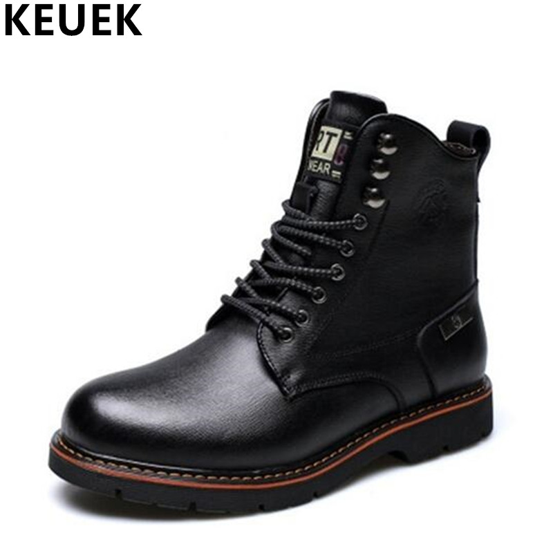 Luxury Vintage Men Martin boots Lace-Up Genuine leather Ankle Motorcycle boots British style Male shoes outdoor Desert Boots 3A fashion british style men s genuine matte leather boot shoes casual lace up male martin ankle chunky booties homme s4472