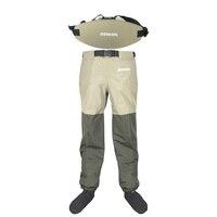 Уличные рыбацкие сапоги, штаны с поясом, водонепроницаемые дышащие болотные штаны для охоты на груди, пояс, одежда для обуви