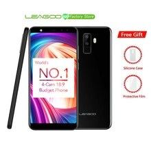 """Leagoo M9 5.5 """"18:9 フルスクリーン 4 カム Android 7.0 MT6580A クアッドコア 2 ギガバイトの RAM 16 ギガバイト ROM 8.0MP 指紋 3 3G WCDMA 携帯電話"""