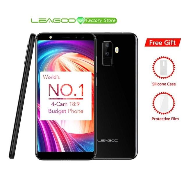 "Leagoo M9 5.5 ""18:9 Full Screen Vier Cams Android 7.0 MT6580A Quad Core 2 GB RAM 16 GB ROM 8.0MP Vingerafdruk 3G WCDMA Mobiele Telefoon"