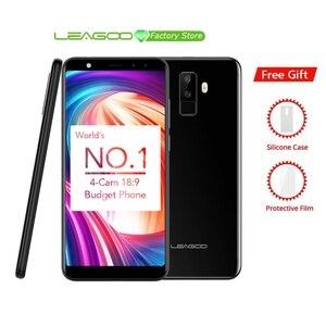 """Image 1 - Leagoo M9 5.5 """"18:9 Schermo Intero A quattro Camme Android 7.0 MT6580A Quad Core 2 GB di RAM 16 GB ROM 8.0MP di Impronte Digitali 3G WCDMA Del Telefono Mobile"""