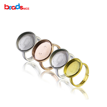 Beadsnice 925 Серебро Ободок регулируемая настройка кольцо серебряное кольцо пробелы настройки ювелирных изделий ID30065