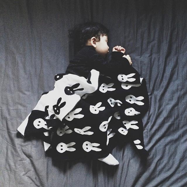 Algodón aden anais newborn fotografía atrezzo manta de conejo abrigo del bebé swaddle muselina kawaii knitting couette enfant deken