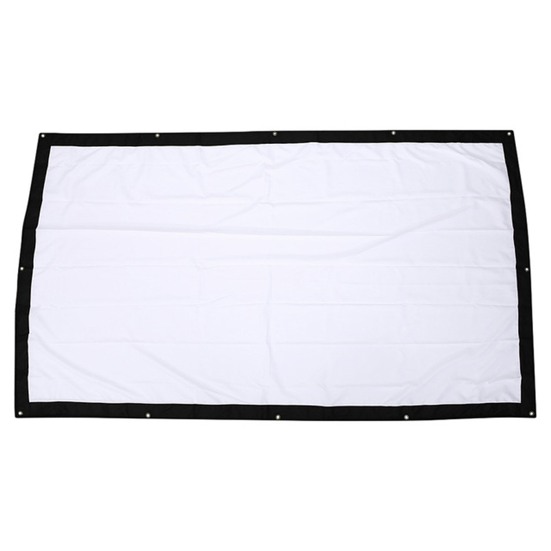 Flexible Projector Screen 100 Inch/150 Inch 16:9 Fabric for Projection Screen Portable Tabletop Projector Flexible Screen everyone gain projection screen 40 inch 16 9 table screen projector hd screen portable easy carry proyector screen fabric