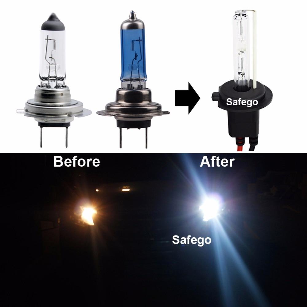 Safego 55W ксенон H7 6000K 55W 8000K HID H7 ксенон - Автокөлік шамдары - фото 4