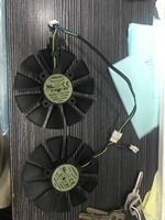 A Pair 87MM Cooler Fan For ASUS GTX1060 1070 Ti RX 470 570 580 Graphics Card Everflow T129215SU PLD09210S12HH 28mm Cooling Fans