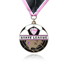 Big Promotion Zinc Alloy Medal Round Football Contest