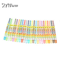 KiWarm 24 Colors Set Washable Erasable Rotating Crayon Pastel Art Drawing Set Safe Children S Wax
