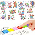 Venda quente DIY 8 Pcs Dos Desenhos Animados do Miúdo Fingerpaint Pintura A Dedo Conjunto Ofício Crianças Colorido Desenho Aprendizagem Educação Brinquedo Imagem
