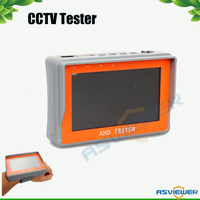 New CCTV 1080P 720P AHD Camera Tester 4.3 inch LCD Analog Video Test 12V/5V Power Output Cable AHD CCTV Tester AS CT401