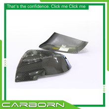 For BMW F10 F12 F13 F06 F01 F02 2014-ON Add On Style Gloss Black Carbon Fiber Body Side Rear View Mirror Cover все цены