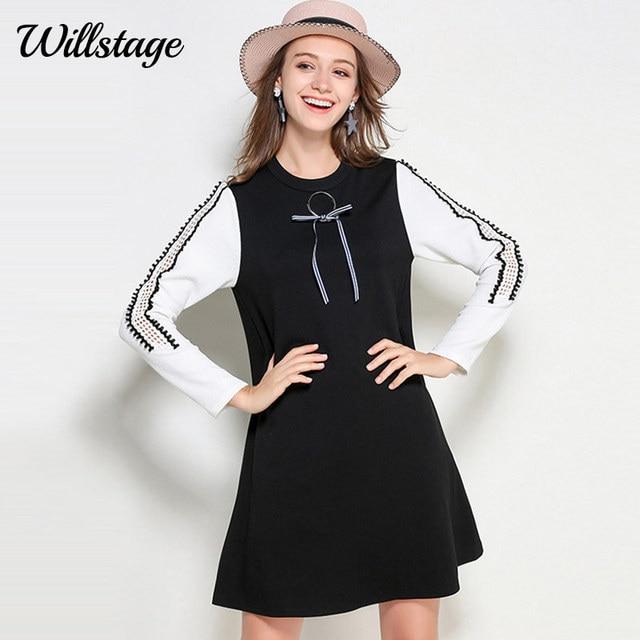 Willstage Women Little Black Dress 5xl Plus Size Oversize Dresses