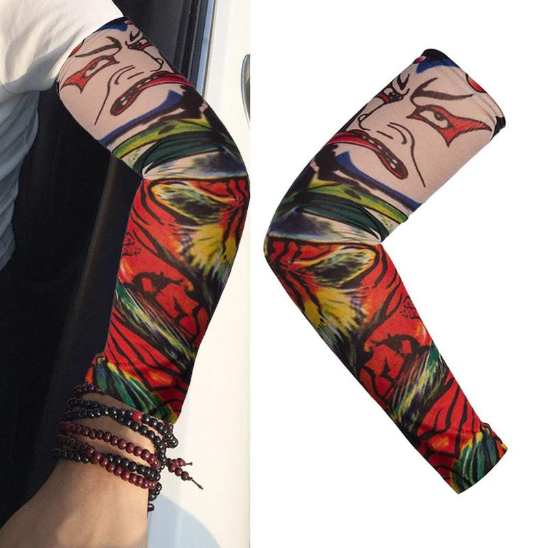 Fashion Tattoo Sleeves Arm Warmer Unisex UV Protection Outdoor Temporary Fake Tattoo Arm Sleeve Warmer Sleeve Mangas Tattoo Arm
