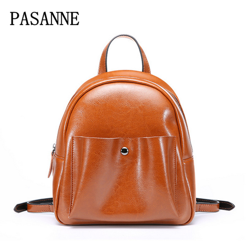 Gril Women Backpack Schoolbags New Fashion 2017 PASANNE Brand Women Vintage Shoulder Bag Grils Bags Schoolbags