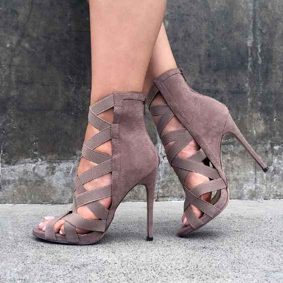 Kadın Topuklu Sandalet sıkı Bandaj Ayak Bileği Kayışı Pompaları Süper Yüksek Topuklu stiletto Topuklu Bayan Ayakkabıları tyj78