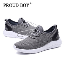 цена на light running shoes men's flywire Breathable mesh sneakers for Male elastic band cushioning Exercise Sport Shoes Outdoor Jogging