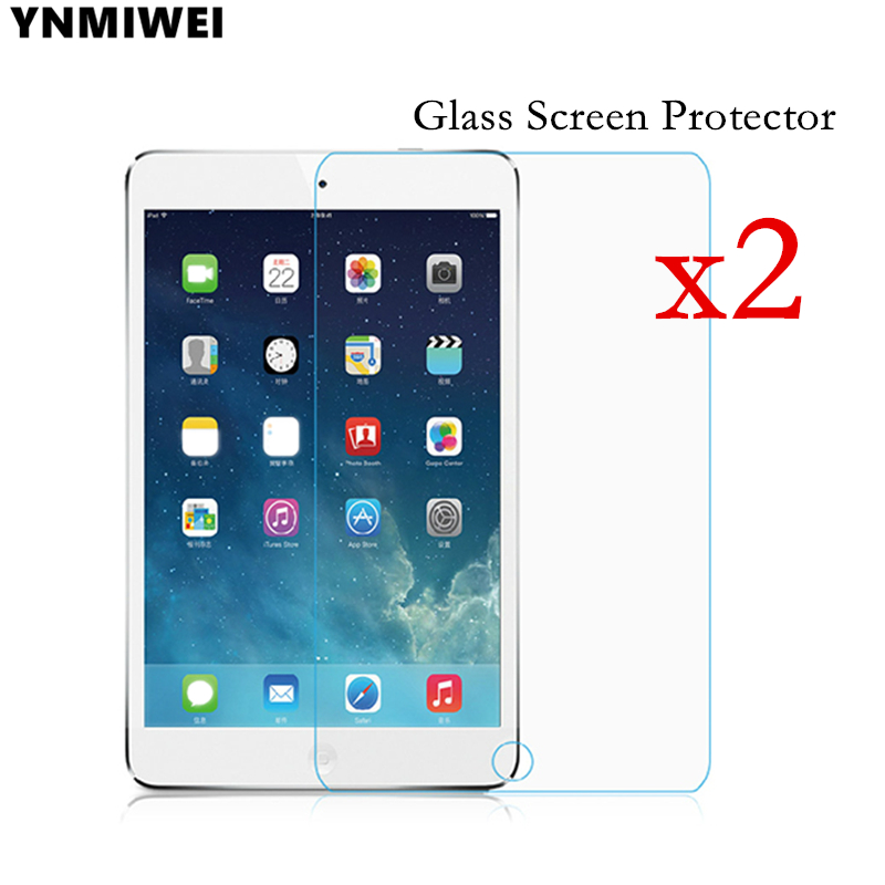 2pc Glass Protector For Apple Ipad Air 1 2 Pro 9.7 10.5 Scratch-Resistant Screen Guard For Ipad 2 3 4 Glass Film