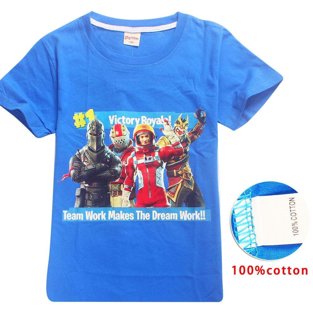 Game Fortnite Battle Royale Kids Tops Summer Short Sleeve T Shirt Girls T-shirts Big Boys Casual Sports Tees Cartoon Clothing