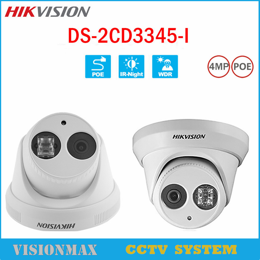 Hikvision CCTV PoE 4MP Camera DS-2CD3345-I HD Night Version Onvif EXIR Turret WDR Dome IP Security Camera replace DS-2CD2345-I hik ds 2cd3345 i 1080p full hd 4mp multi language cctv camera poe ipc onvif ip camera replace ds 2cd2342wd i ds 2cd2345 i