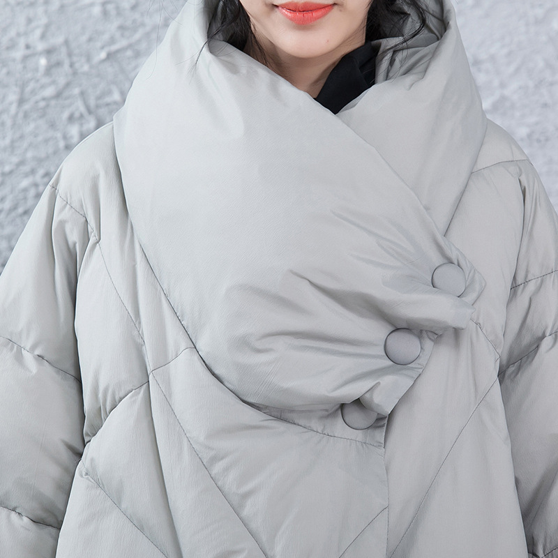 2018 New Arrival Feaday Winter New Long Thickening High Necked Womens Down Jacket Cloak Big Size Womens Coat