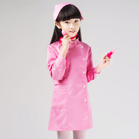 Small children doctor nurse nursery house occupation role play show clothing hospital gown