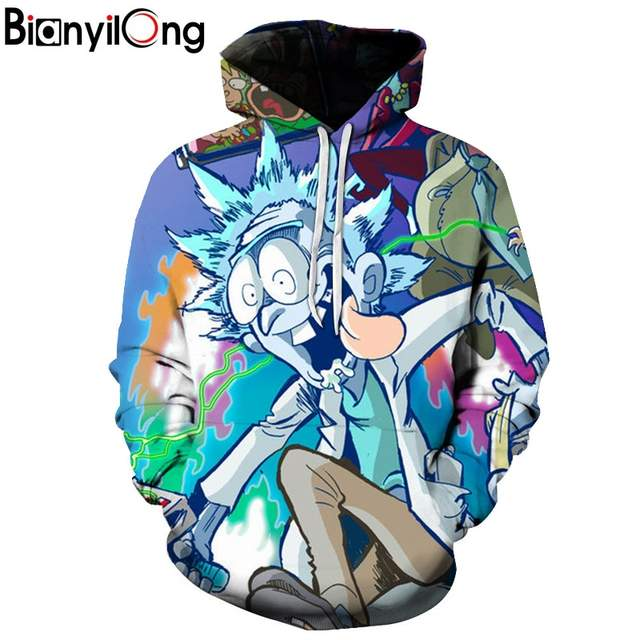 6275e8757 placeholder 2018 New hoody arrive Rick and Morty Alien 3D Printed Hoodies  man Pullover Hoodie Trippy Planet