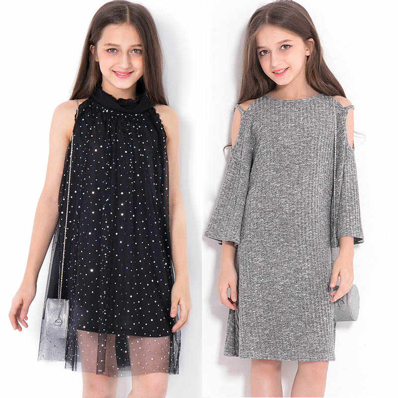 Teenage Girls Princess Dress Spring Summer Kids Dresses for Girls Clothes Plaid Lace Sequin Girls Dress Children Costume 10 12 Y