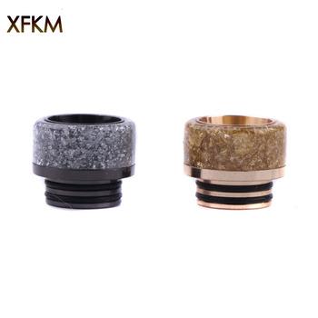 XFKM rozpylacz do waporyzatora 528 810 końcówka kroplówki kompatybilny z Goon RDA 528 810 żywica ustnik e papieros akcesoria tanie i dobre opinie XFKM 810 Resin Drip Tip 810 RDA RTA Atomizer Metal