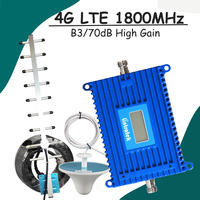 LCD Display 2G 4G LTE 1800 Cell Phone Signal Booster 70dB Gain GSM DCS 1800mhz 4G
