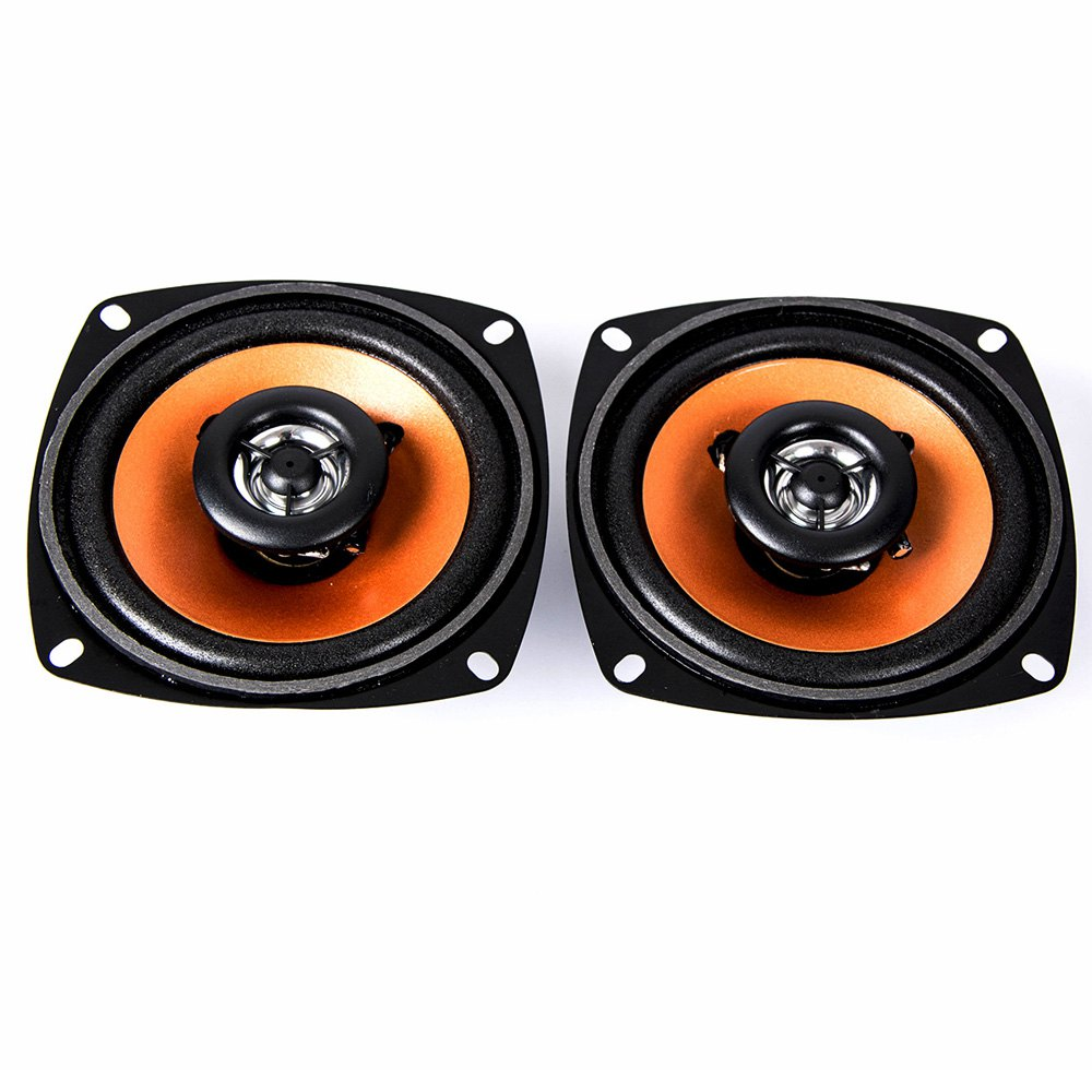 Univeral 2Pcs 4.0 Inch Car Coaxial Speaker Paired Audio Loudspeaker High Energy Double Way High-End Car Music Audio Speakers ...