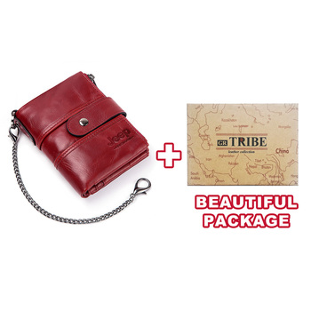 100% Genuine Leather Rfid Wallet Men Crazy Horse Wallets Coin Purse Short Male Money Bag Mini Walet High Quality Boys 19