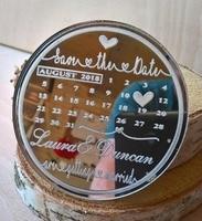 Сохраните дату магнита холодильника из зеркального акрила. Календарь сохранить дату магниты, свадебные подарки для гостей, акриловые сваде...