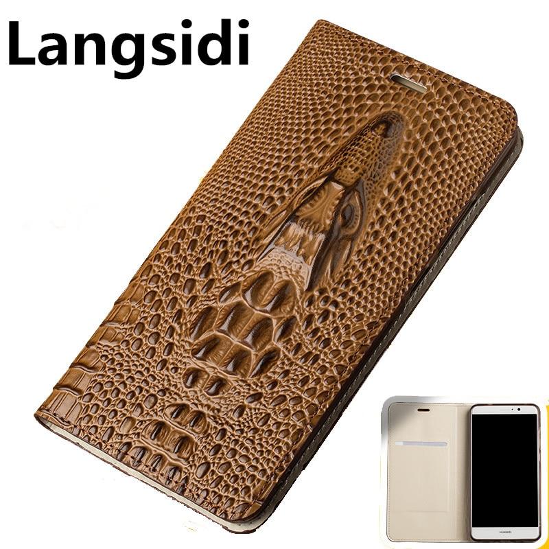 For OPPO Reno Langsidi Genuine Leather Business Phone Case For  OPPO RX17 Neo OPPO RX17 Pro Realme 3 Pro Realme x Flip Case CoqueFlip  Cases