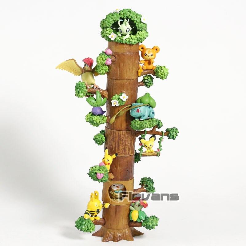 Kawaii Forest Pikachu Pichu Bulbasaur Celebi Rowlet Bellossom Pidgeotto Oddish Teddiursa Elekid Mini PVC Figures Toys Dolls SetKawaii Forest Pikachu Pichu Bulbasaur Celebi Rowlet Bellossom Pidgeotto Oddish Teddiursa Elekid Mini PVC Figures Toys Dolls Set