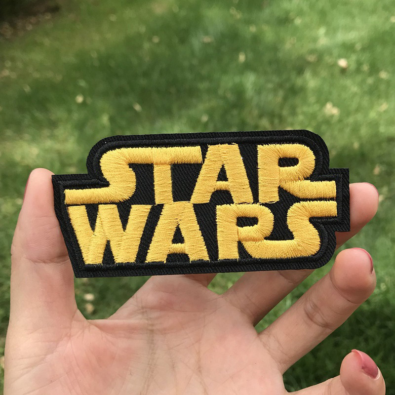 Prajna Star Wars Embroidered Patches For Clothes Stickers Stripes Hippie Patch Groot Iron On Patches Applique Sticker Galaxy