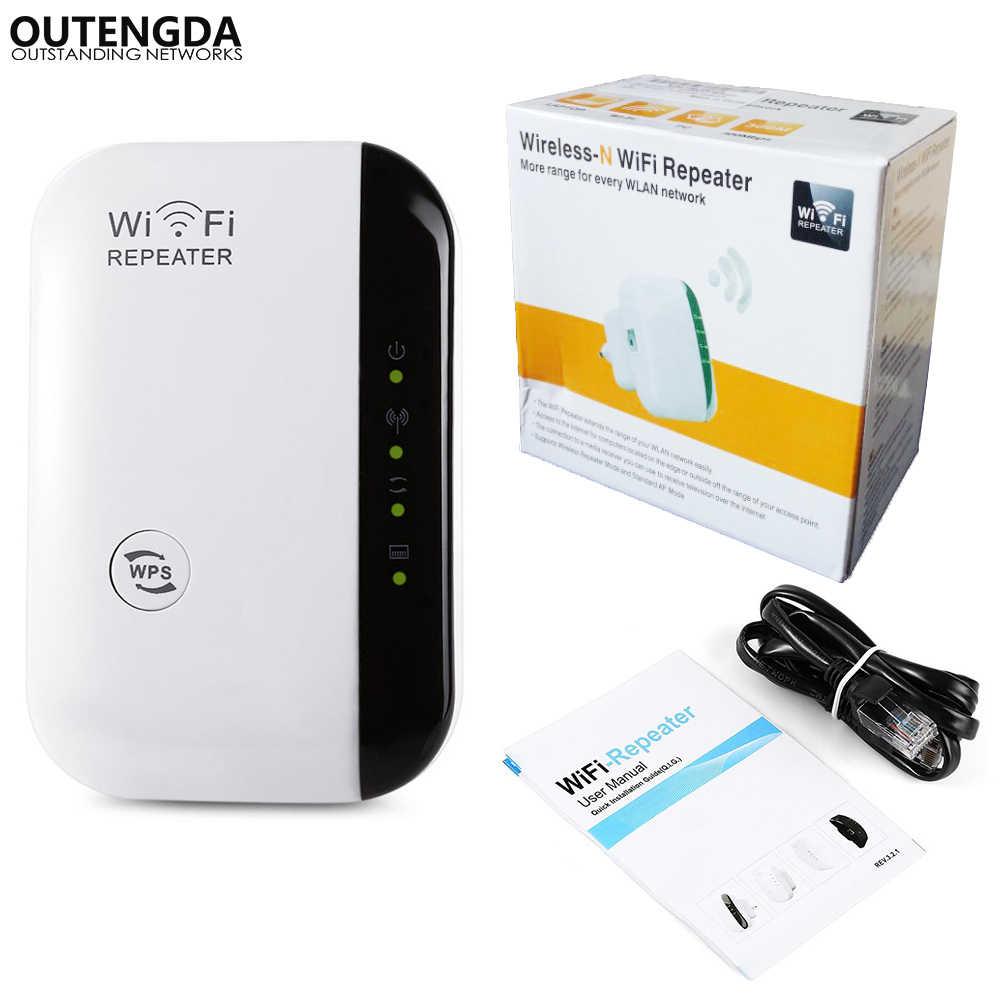 لاسلكي-N واي فاي مكرر 300 Mbps شبكة واي فاي الموجهات مكبر صوت أحادي نطاق موسع 802.11n/b/g واي فاي repetidor WPS التشفير