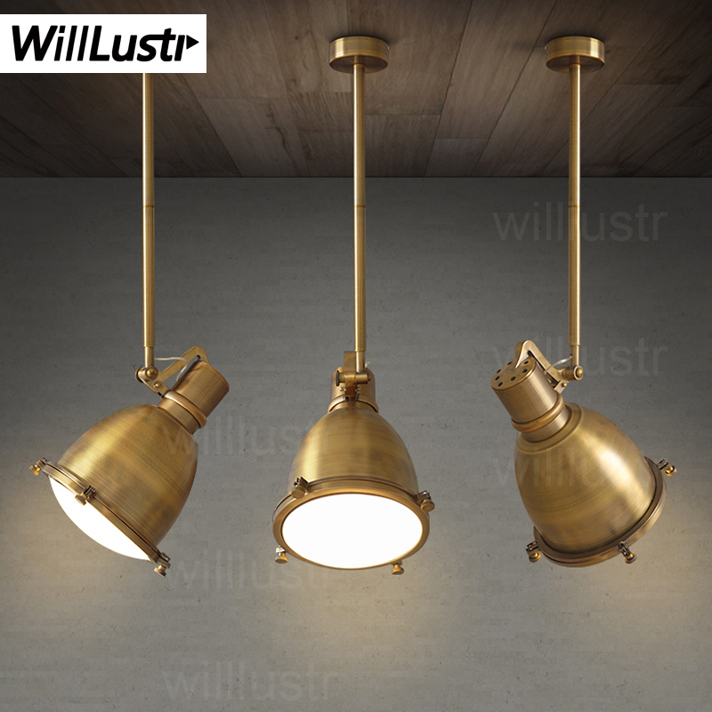Willlustr Vintage Maritieme Dock Hanglamp Suspension Lamp Antieke Messing Metal Verlichting Opknoping Eetkamer Restaurant