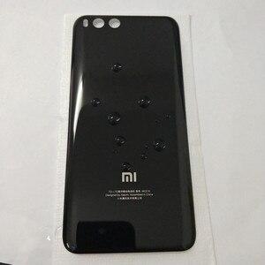 Image 5 - ثلاثية الأبعاد الزجاج ل mi 6 غطاء البطارية قطع الغيار ل Xiao mi mi 6 mi 6 بطارية الغطاء الخلفي الباب هيكل للهاتف حافظة شحن مجاني