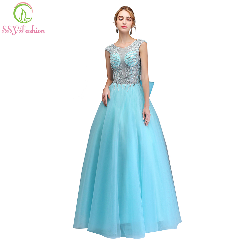 SSYFashion 2018 New High end Evening Dress Luxury Crystal Beading ...