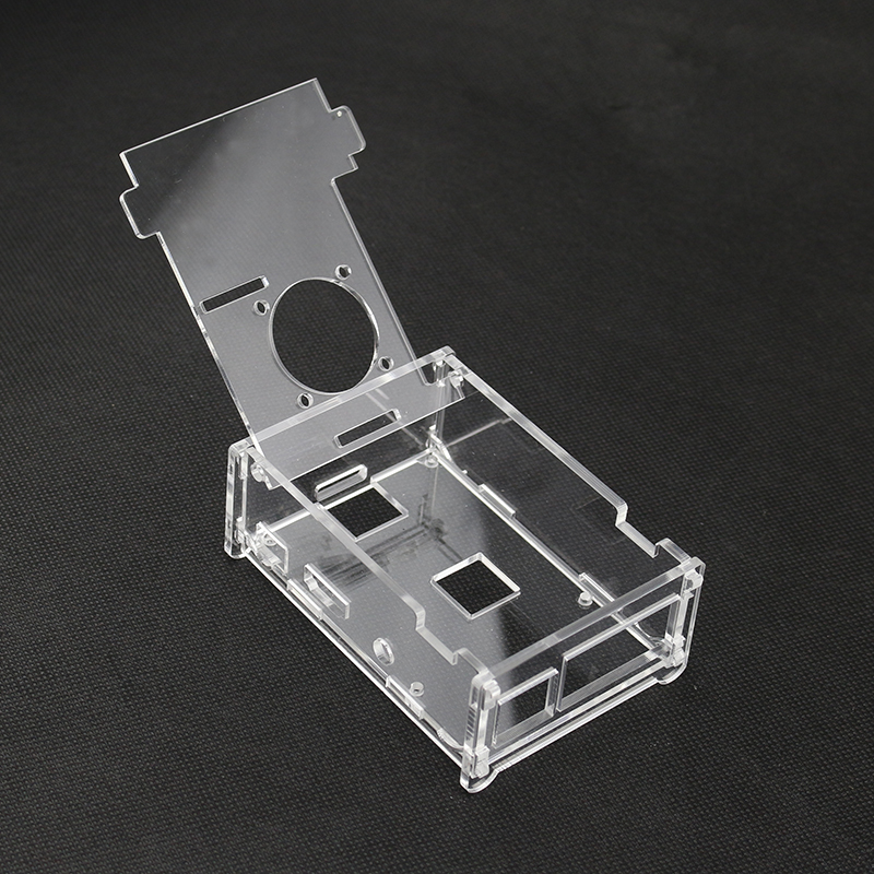 New Arrival Raspberry Pi 3 case Transparent Raspberry pi B+ Acrylic Box Shell For Raspberry Pi 2 Model B with hole for heat sink