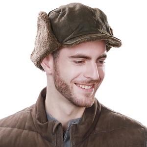 Image 3 - FANCET chapeau bombardier unisexe pour hommes, chapeau de pilote daviateur, protège oreilles, coupe vent, Ushanka, chapeau de chasse 88115
