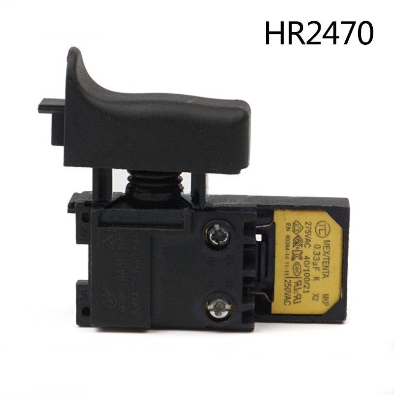 High-quality! Electric hammer Drill Speed Control Switch for Makita HR2470,Power Tool Accessories free shipping electric hammer drill speed control switch for bosch gbh20 24 gst85pbe power tool accessories