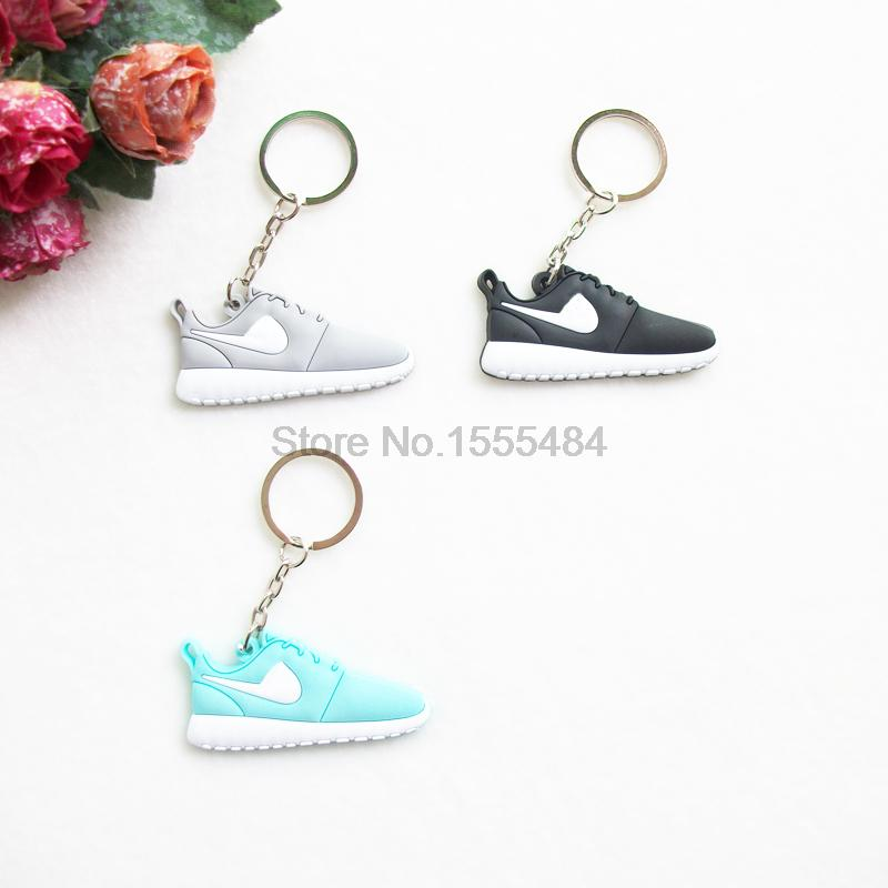 Mini Silicone Sneaker Roshe Run Keychain Key Chain Shoes Car Key Holder Woman Men Bag Charm Accessories Key Rings Pendant Gifts