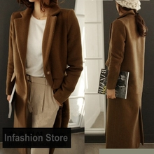 X-Long Autumn Winter Coat Quilted Women Overcoats 2016 New Casual Style Thick Quilted Women's Long Wool-like Coats Plus Size