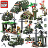 Enlighten Military Blocks 937 Pcs Boys Educational Blocks Army Cars Helicopter Air Weapon Tank Building Blocks